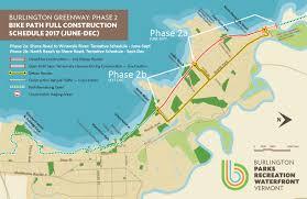 Vermont State Parks Map Burlington Greenway Phase 2 Bike Path Rehabilition Burlington