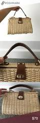 vintage structured wicker basket purse vintage items smooth and