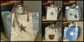 sac cabas en lin exemple de cabas confectionné a la demande avec des tissus