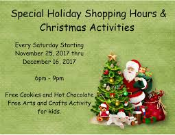 special holiday shopping and christmas activities