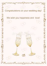 congratulations on your wedding congratulations on your wedding day vector illustration stock