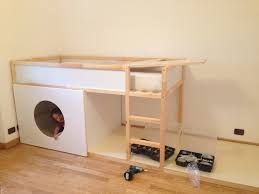 ikea kura bunk bed adding plywood kidsrom pinterest ikea