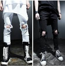 Black Skinny Jeans With Holes Search On Aliexpress Com By Image