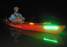 kayak lights for night paddling night fishing with the wildcat lighting system the ack blog