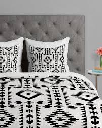 Tribal Pattern Comforter Tribal Geometric Pattern Black And White Duvet Cover Bedroom