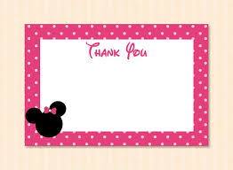 minnie mouse thank you cards free printable minnie mouse thank you cardskitty ba minnie