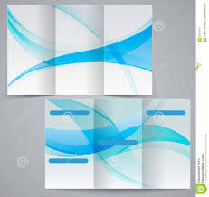 Plain Brochure Template by Tri Fold Business Brochure Template Vector Blue D Stock Photos