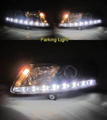 a6 c6 4f 2004 2008 04 08 projector led r8look headlight chrome for