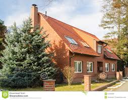 traditional suburban european house royalty free stock images