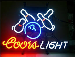 coors light sign amazon coors light bowling neon signs 20 w x 16 h inch neon lights made