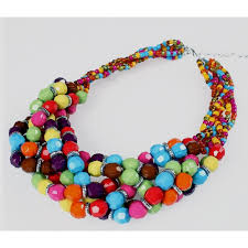 resin bead necklace images Resin beads jewelry set serengeti jpg