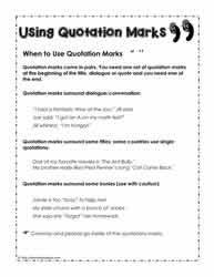 Quotation Marks Worksheet Quotation Marks Worksheets Worksheets