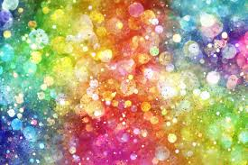 bokeh rainbow colorful lights lights flowers background hd wallpaper