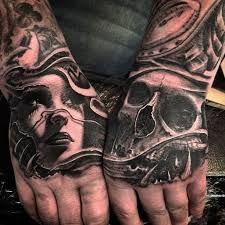 portrait skull 3d tattooed tattoos 3d