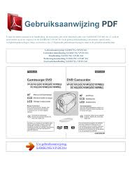 download free pdf for samsung vp dc161 camcorders manual