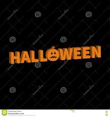 free halloween orange background pumpkin halloween lettering 3d text banner with sad orange pumpkin