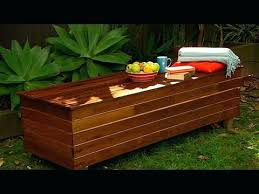 wooden outdoor storage bench seat unfinished wood storage bench