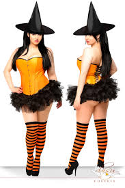 halloween costumes candy corn 4 pc orange candy pin up witch costume cicihot costume online