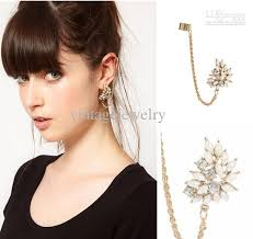 ear cuffs uk 2018 ear cuff chain fashion imitation pearl