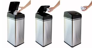 for the kitchen wooden trash cans 13 gallons large stainless steel