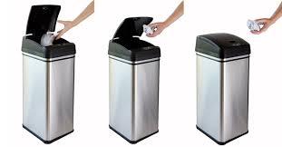 Large Kitchen Garbage Can Touchless Kitchen Trash Can Kenangorgun Com