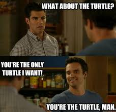 New Girl Meme - what about the turtle you re the only turtle i want you re the