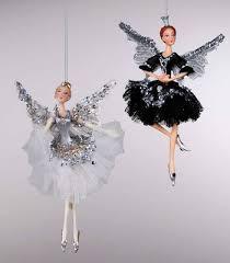 katherine s collection set twelve black tie ballerina ornaments