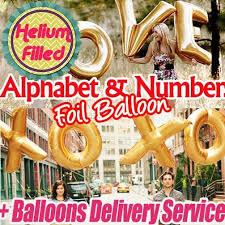 balloon delivery az qoo10 helium balloons gold alphabet number foil balloon letter