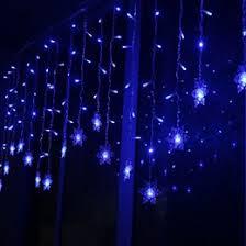9 84 9 99 snowflake bar led lights 3 5 meters blue