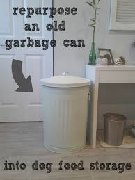 Food Container Storage Great Idea For Dog Food Storage Container Grab An Old Metal Trash