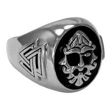 large silver rings images Large sterling silver runic norse god odin ring size jpg