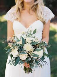 nashville florist organic bridal bouquet with all white flowers nashville