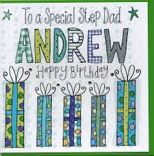 personalised step dad birthday card by claire sowden design