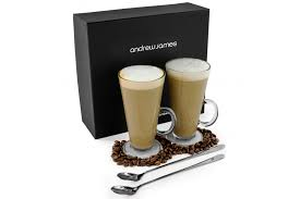 coffee gift sets andrew latte glass set kitchen from andrew uk