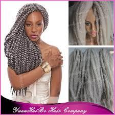 grey marley braiding hair stock 20 fold gray synthetic twists braids silver grey marley