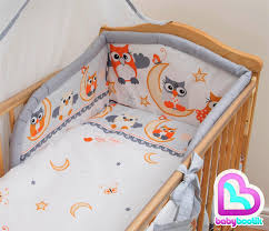 5 Piece Nursery Furniture Set by 5 Piece Bedding Set With Thick Bumper For 140x70 Cm Baby Cot Bed