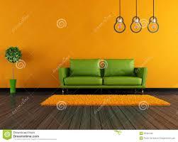 Wohnzimmer Orange Modernes Grünes Und Orange Wohnzimmer Stockfoto Bild 29461490
