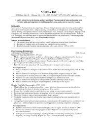 Sales Resumes Templates Pharmaceutical Sales Resume Templates