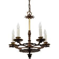 Tudor Chandelier Antique Tudor Chandelier In Bronze Early 1900s Chandeliers And