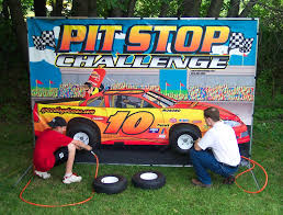 rent a pit clownin around pit stop challenge
