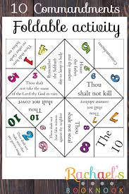 primary 6 lesson 21 10 commandments foldable activities sunday