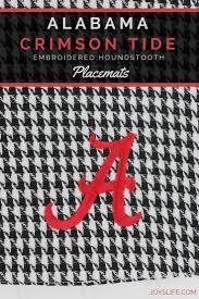 Alabama Crimson Tide Home Decor by Alabama Crimson Tide Embroidered Houndstooth Placemats Joy U0027s Life