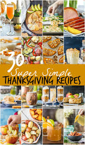 30 simple thanksgiving recipes