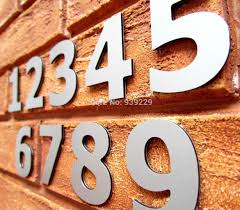 discount modern siver house door address number digits numeral