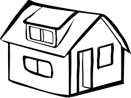 clipart blank detached house