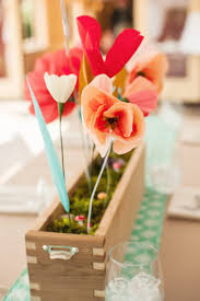 paper flower centerpieces with diy paper flower centerpieces
