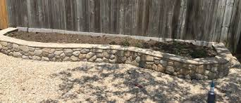 raised garden bed using stamp concrete overlay mix
