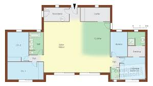 plan de maison avec cuisine ouverte cuisine ouverte avec ilot 18 maison bois d233tail du plan de
