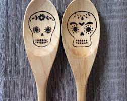Chocolate Dipped Spoons Wholesale Cafe Mexicano Cinnamon Chocolate Dipped Spoons Sugar Skulls