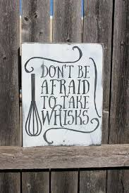 wood sign wall wall decor quotes signs kitchen sign be afraid wood sign home